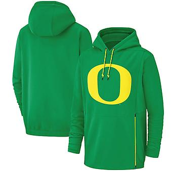 Oregon Ducks Män's Performance Pullover Hoodie Top WYX023