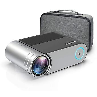 Projector, vamvo mini projector support 1080p, portable video projector 5500 lux with dolby , home c