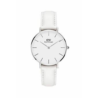 Daniel Wellington damas reloj clásico Petite Bondi cuero blanco DW00100190