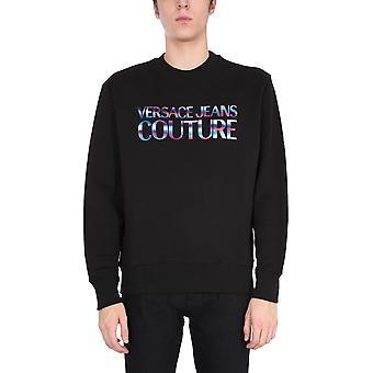 Versace Jeans Couture B7gwa7ge30438899 Heren's Zwart Katoen Sweatshirt