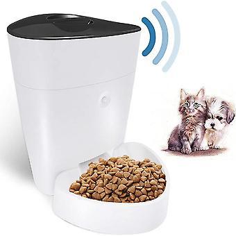 Automaattinen syöttölaite 4l Wifi Älykäs Lemmikkieläinten syöttöajastin Koiran kissa Ruoka Annostelija