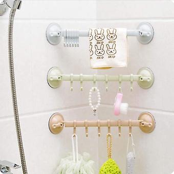 Adjustable Hook Rack Double Suction Cup Towel Rack Hanging Shelves Hook Holder