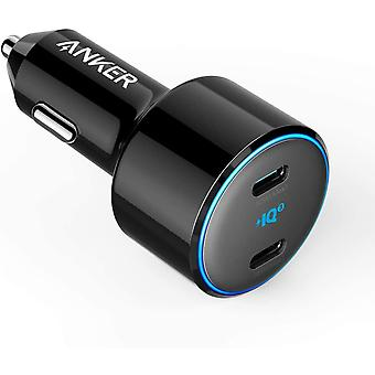 USB C Car Charger, 48W 2-Port PIQ 3.0 Fast Charger Adapter