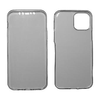 Full Cover compatible with iPhone 12 | Clear TPU Gray |