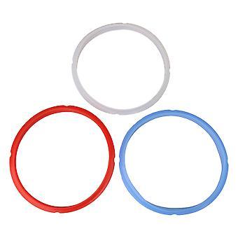 3PCS 3 cores Acessórios de anel de vedação de silicone para panela de pressão