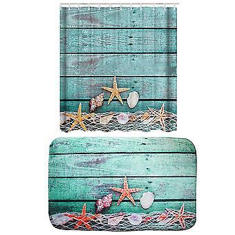 Les rideaux de douche d'étoile de mer ensemble 2 pièce