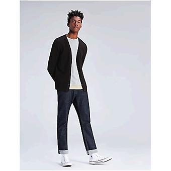 encontrar. Suéter de cárdigan con botón de algodón para hombre, negro, EU XXL (US XL)