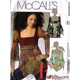 McCalls Naaipatroon 5235 Misses Empire Top Size 4-10 AAX