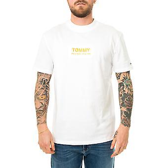 Homme tommy jeans haut col logo tee-shirt dm0dm08442.ybr