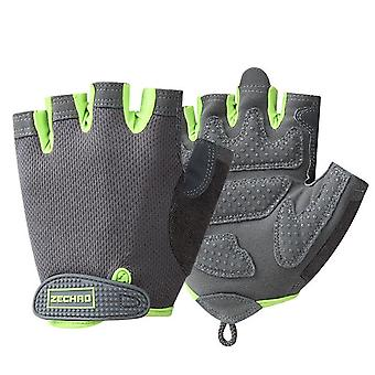 Breathable Fitness Gloves, Silicone Palm Hollow Back Gym Gloves