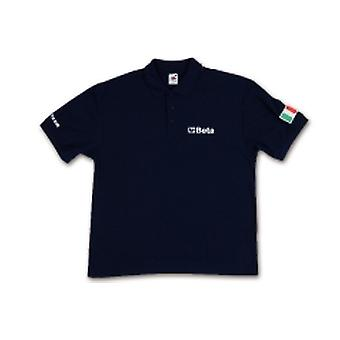 Beta 095340053 9534 B-L tre-knappars Polo Shirt kardade Pique bomull 200 G/m