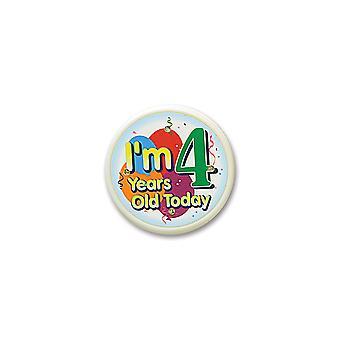 I'M 4 Jahre alt heute blinkenden Knopf (Pack von 6)