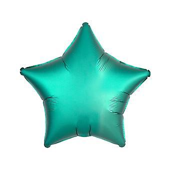 Ballon aluminium Etoile vert menthe 43 cm