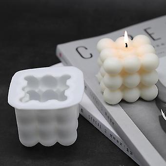 3D مربع مكعب الغذاء الصف قالب السيليكون للاستخدام المطبخ والصابون وصنع الشموع