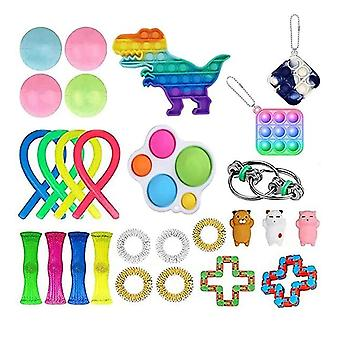 27pcs לארוז צעצוע חושי להגדיר Antistress הקלה צעצועים פידג'ט
