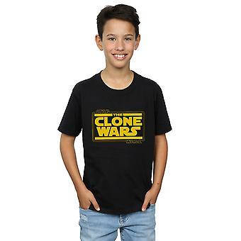 Star Wars Boys Clone Wars Logo T-Shirt