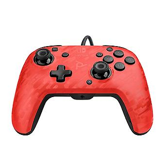 FengChun PDP Faceoff-Controller Deluxe+ Audio mit Kabel für Nintendo Switch in Camouflage/rot [ ]