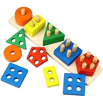 Shape And Color Classification Building Block Toys, Children's Educational Toys