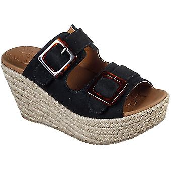 Skechers Womens Shift Wedges Talons Glissa Glissa Sandales Plates-formes Summers Chaussures