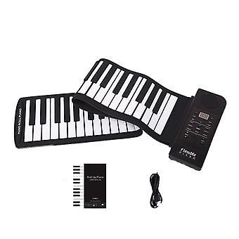 61 Keys Flexible Roll-Up Piano With MIDI Electronic Keyboard