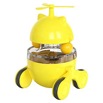 Funny Tumbler Cat Toy Educational Leaking Food Ball Pet Dog Cats Interactive Cat Toys(yellow)