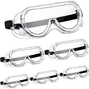 6 Paare Schutzbrille Schutz Chemische Spritzen Beständig Schutzbrille Klar Verstellbare Schutzbrille