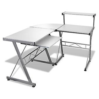 Computertafel Bureau Bureautafel Hoektafel PC Tafel Office wit