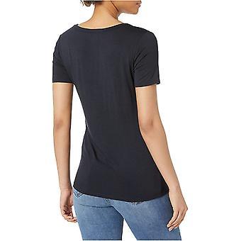 Brand - Daily Ritual Women's Jersey Short-Sleeve Scoop Neck Shirt, Navy, XX-Large