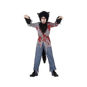 Kostüm für Kinder Blut Wolf (4 Stk)