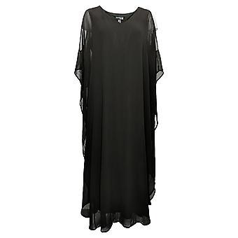 Antthony Dress Cold-Shoulder w/ Chiffon Overlay Black 747148