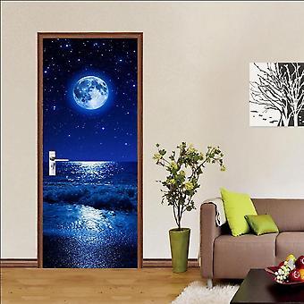 Wallpaper Wood Adhesive Pvc 3d Door Sticker - Set 1