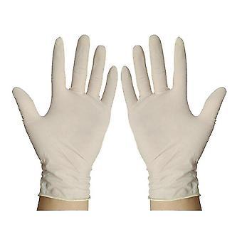 Medium 100pcs Arbeitsschutz Latex Einweghandschuhe 23cm dt1495