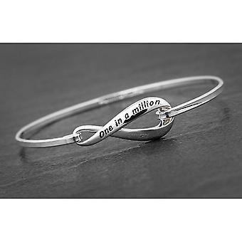 Amore eterno braccialetto placcato argento uno su un milione