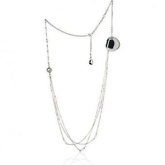 Breil juveler blomma samling cuore - agata / rosa agathe 35cm halsband tj0835