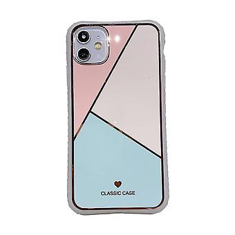 Electroplating stitching geometric small waist phone case awo69670