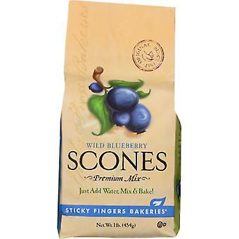 Sticky Fingers Mix Scone ville Blbry, tilfælde af 6 X 16 Oz