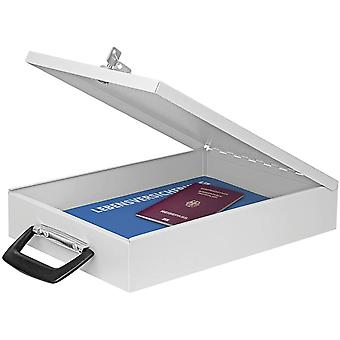 HanFei A4 Document Box with Handle - Light Grey