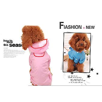Pet Dog Puppy Raincoat 11 Size Four-legged Dog Coat Dog Clothes Available For Both Small And Large Dogs