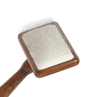 Pets Brush Dog Accessories Grooming Comb Wood Handle Air Cushion Needle For Massage Pet