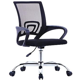 vidaXL chaise de bureau avec dossier en filet tissu noir