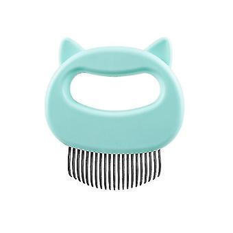 Köpekler ve kediler için özel saç striptizci, evcil hayvan uzun saç ve kısa saç tarağı (Yeşil)
