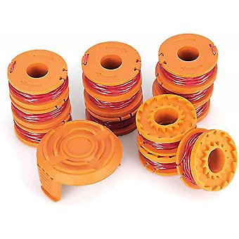 Replacement Spool Line For Worx Trimmer, Pack Of 13 (pack Of 12 Trimmer Lines, 1 Trimmer Cap)