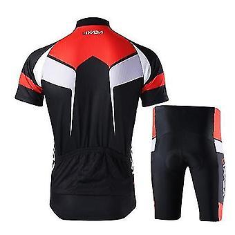 自転車の自転車ジャージ男性通気速乾燥快適な半袖ジャージ+パッド入りのショートパンツサイクリングウェアセットスポーツウェア