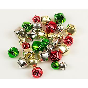 30 jul färger blandade Storlek Jingle Bells för hantverk