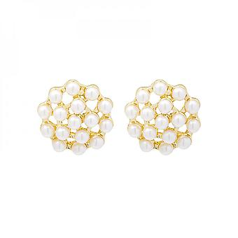 Silver Needle Everyday Elegant Beehive Pearl Star Commuter Fashionable All-match Earrings