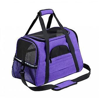 Pet Travel Bag Multifunctional Foldable Pet Bag Easy To Carry Pet Bag(Purple)