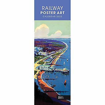 Otter House Railway Poster Art Nrm Slim Kalender 2022