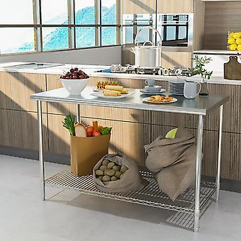 Cuisine Prep Table Work Bench Acier inoxydable Cuisine Table de restauration