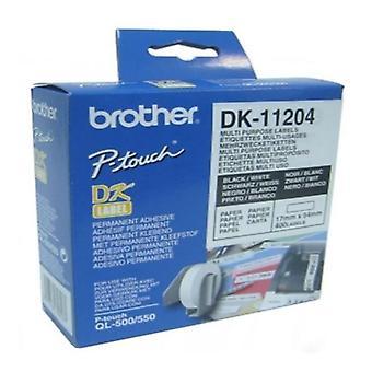 Multifunktionale Drucker Etiketten Brother DK11204 17 x 54 mm weiss