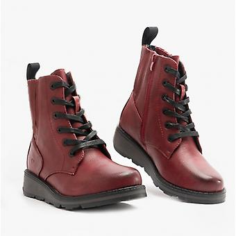 Heavenly Feet Journey Ladies Ankle Boots Ruby